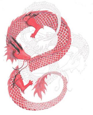 double dragons color progress by AlaraFirewing