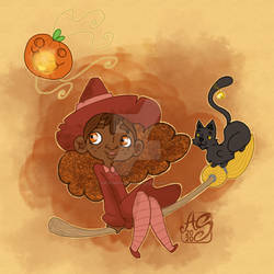 Children Illustration Concept | Little Witch