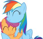 Sisters (RD and Scootaloo vector)
