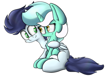Soarin x Lyra by MachStyle