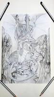 Dragon flight (old sketch)