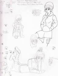 SBook doodles Yumi w new eyes by Idene