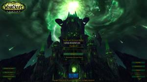 Custom World of Warcraft: Legion Login Screen