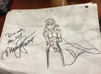 Mary Elizabeth McGlynn signed Motoko Kusanagi by BenSoulstone