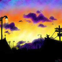 Celedon City Sunset by Koolaid-Girl