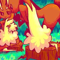wild bunnies by Koolaid-Girl