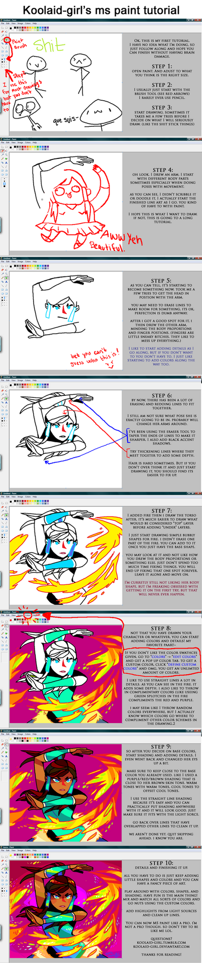 ms paint tutorial by Koolaid-Girl