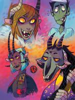Demon doodles by Koolaid-Girl