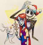 Inktober-Jack and Sally