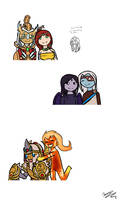 SMITE Couples pt. 1 by TheCoconutTurtle