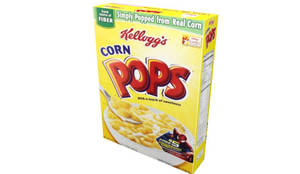 3D Model Corn Pops Cereal Box