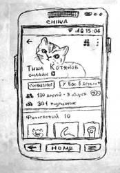 Mobile vk.com social network kitten profile by b1oki