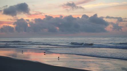 Pastel Beach Sunrise by ChessJess
