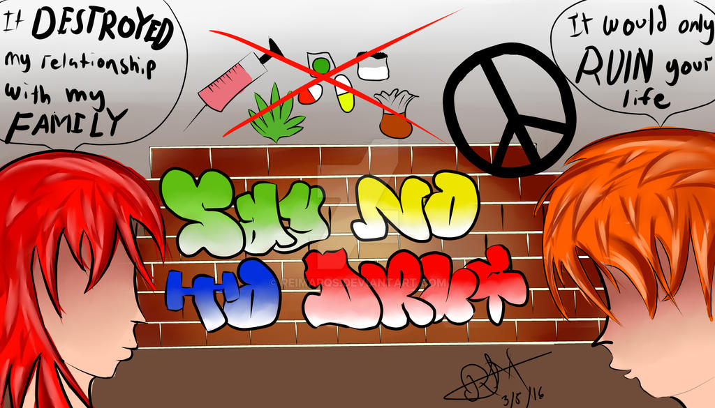 Say no to drugs campaign poster by ReImARQs on DeviantArt
