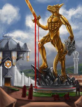 Creative Colosseum Battle 8, Statue of Vidalis