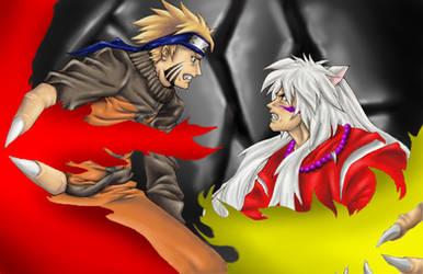Naruto vs Inuyasha by ibplunderin