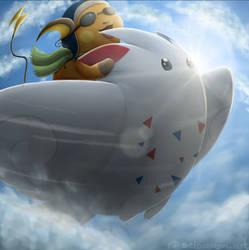 it flies