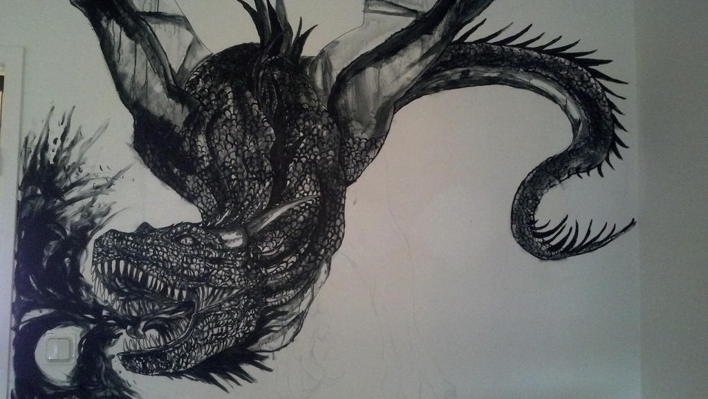 Beau Dragon Wall Art By YumeTatsu ...