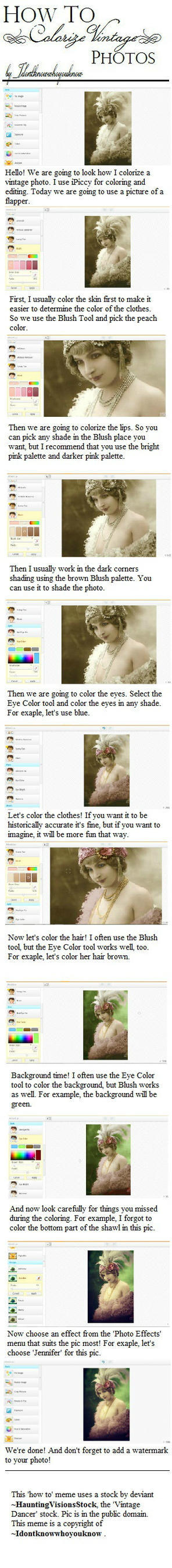 How To Colorize A Vintage Photo Tutorial by Idontknowwhoyouknow
