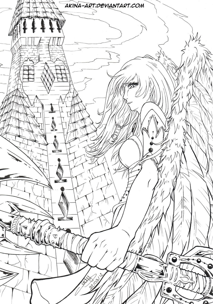Looking For Angel Line20 by Akina-art