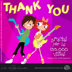 Gracias por 135,000 visitas by Angelus19
