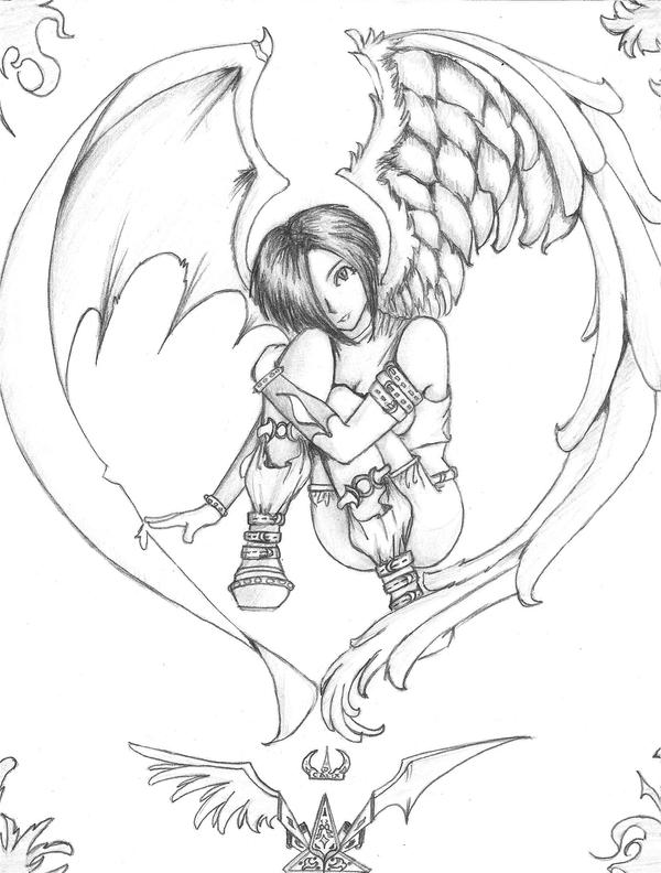 Imagenes De Angeles Del Anime Para Dibujar Imagui