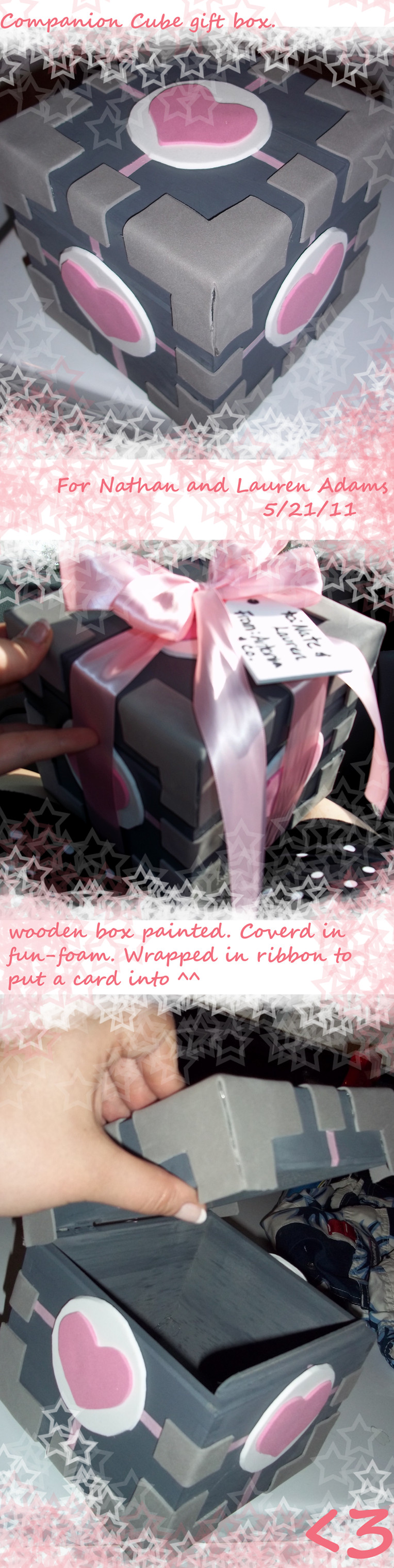 companion cube gift box. by AceroTiburon