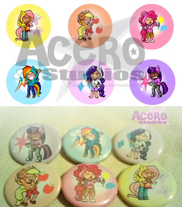 Brony Button Set by AceroTiburon