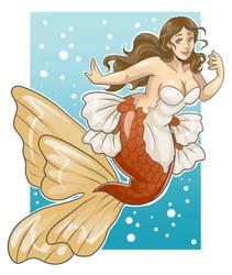 Goldfish Mermaid by AceroTiburon