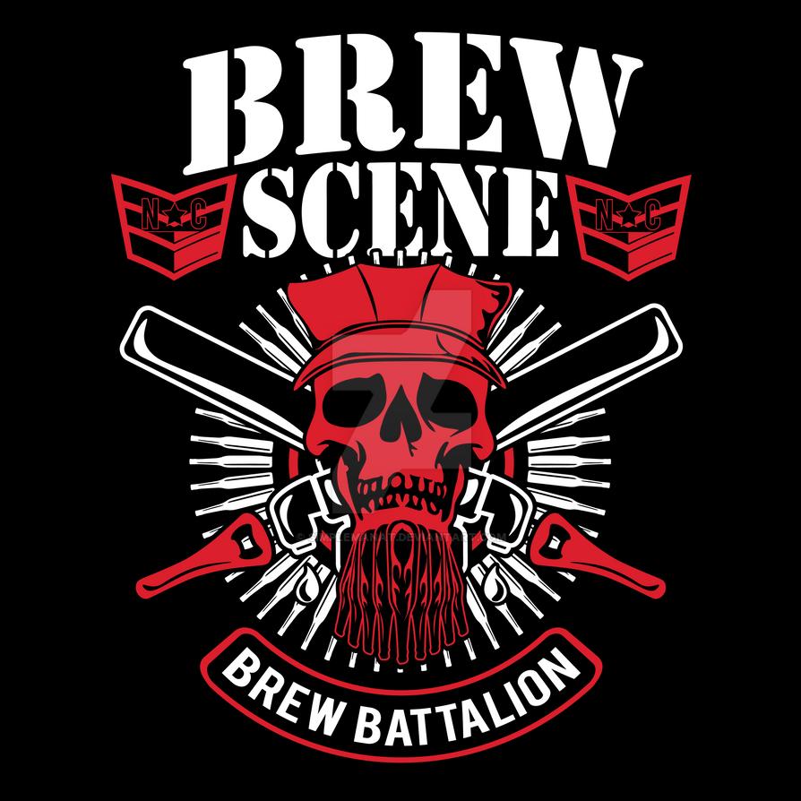 Carolina Brew Scene- Brew Battalion Shirt Graphic by simplemanAT