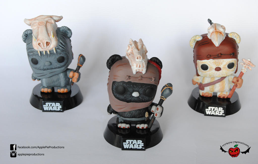 Ewoks star wars funko pop custom by ApplePie-Productions