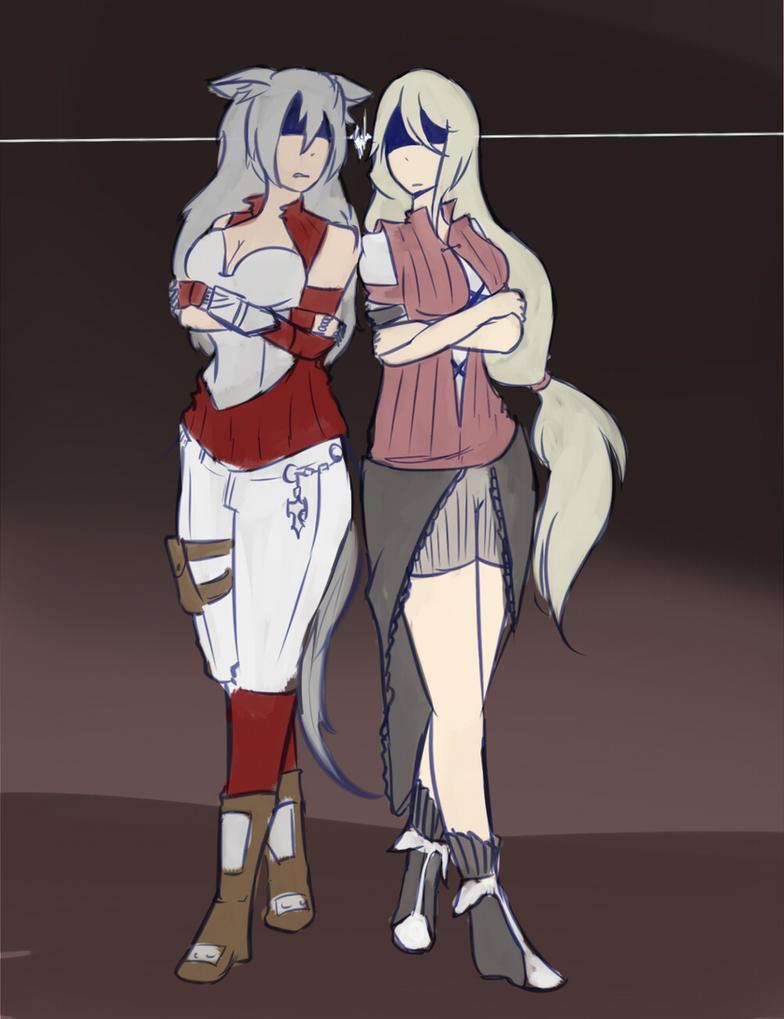 Auburn and Dora by UrsaJr