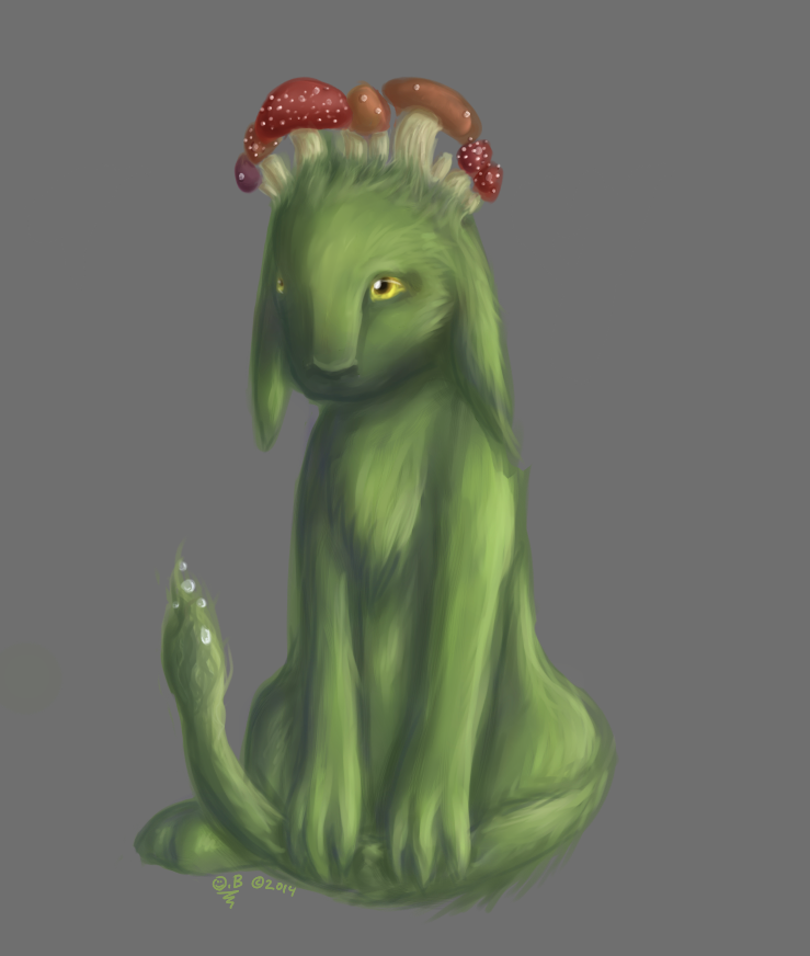 Mushroom Creature by Whispering-forests