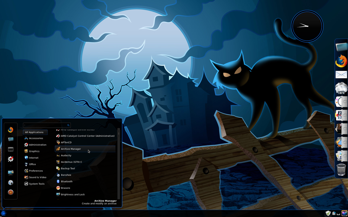 Linux Mint 13 LTS Desktop Halloween 2013 by roj