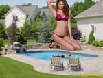 Giantess Karlie Kloss backyard pool