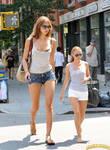 Minigiantess Irina Shayk in NYC