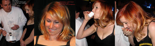 Kari Byron drink sequence by lowerrider
