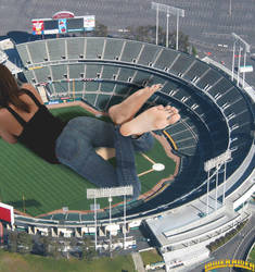 Presly in the oakland coliseum by lowerrider