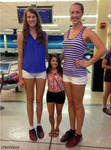 Tall volleyball players compare