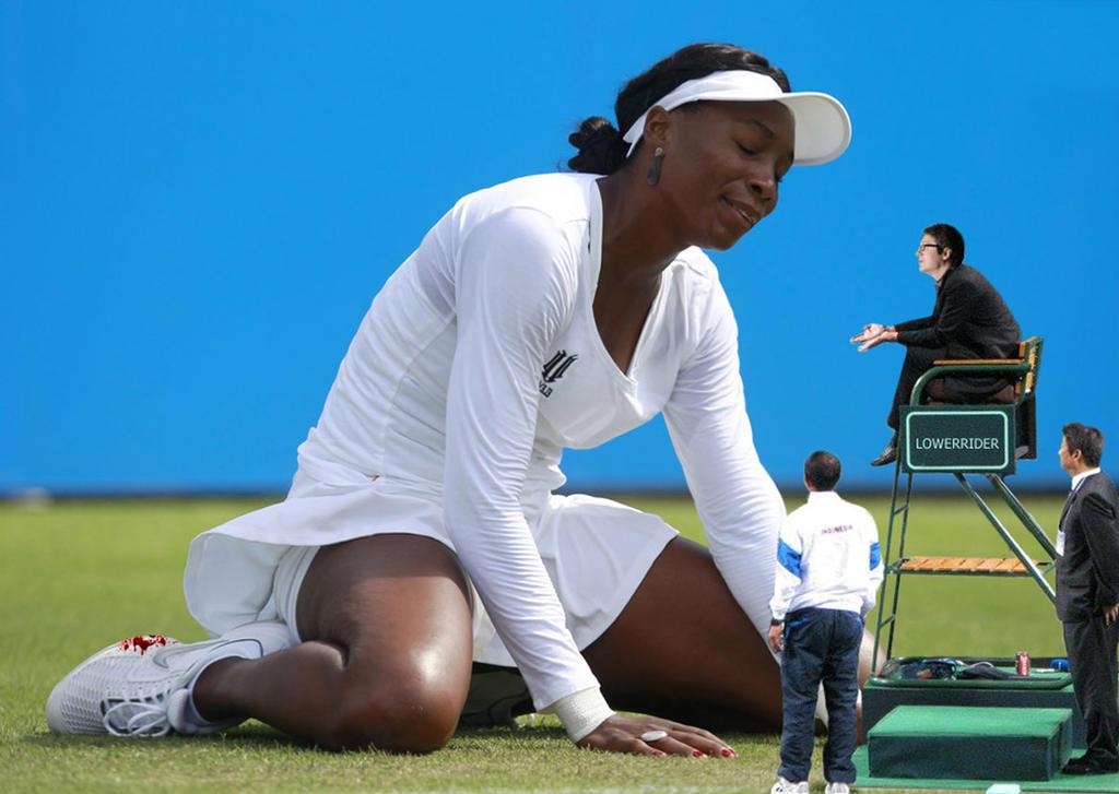 Venus Williams knees by lowerrider