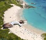 Giantess Shakira beach