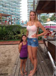 Tall girl with short woman