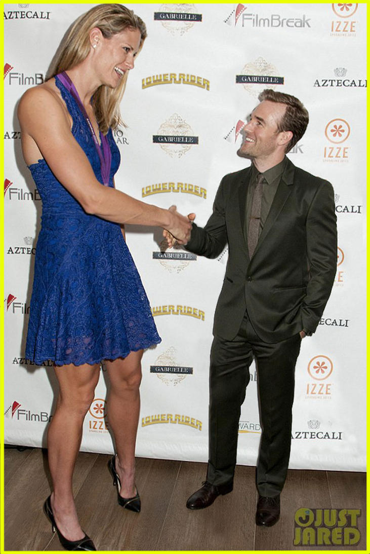 Super tall woman and James Van Der Beek by lowerrider on ...