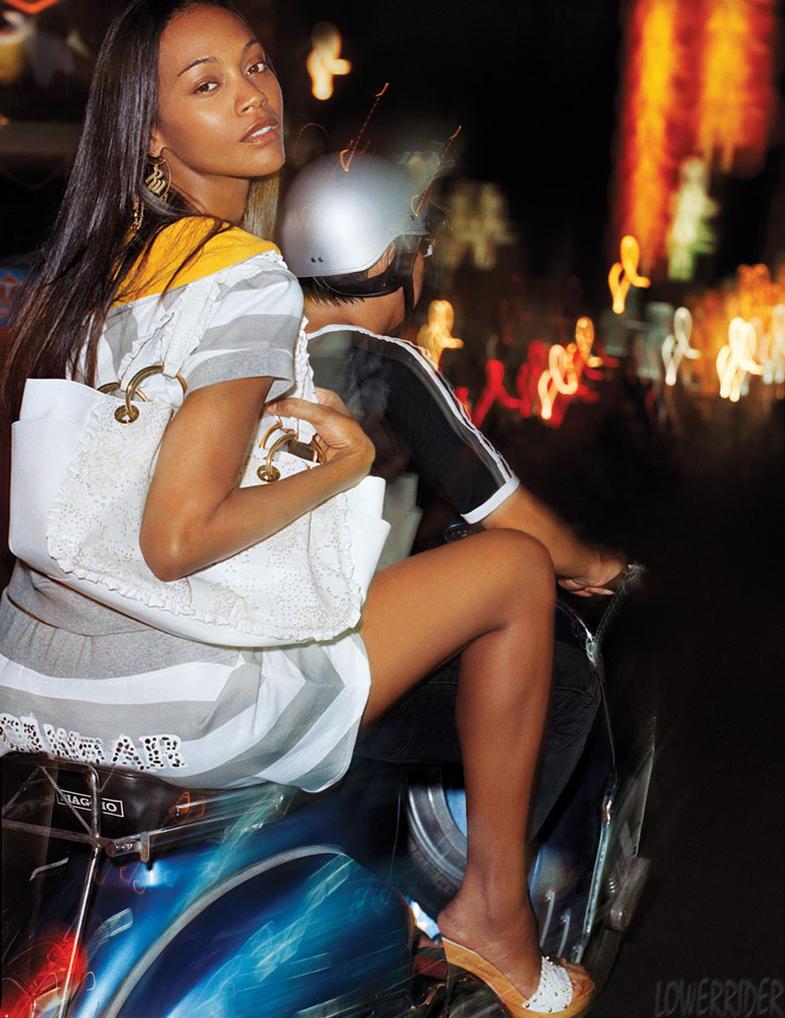 Zoe Saldana scooter by lowerrider