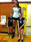 Really tall volleyball player
