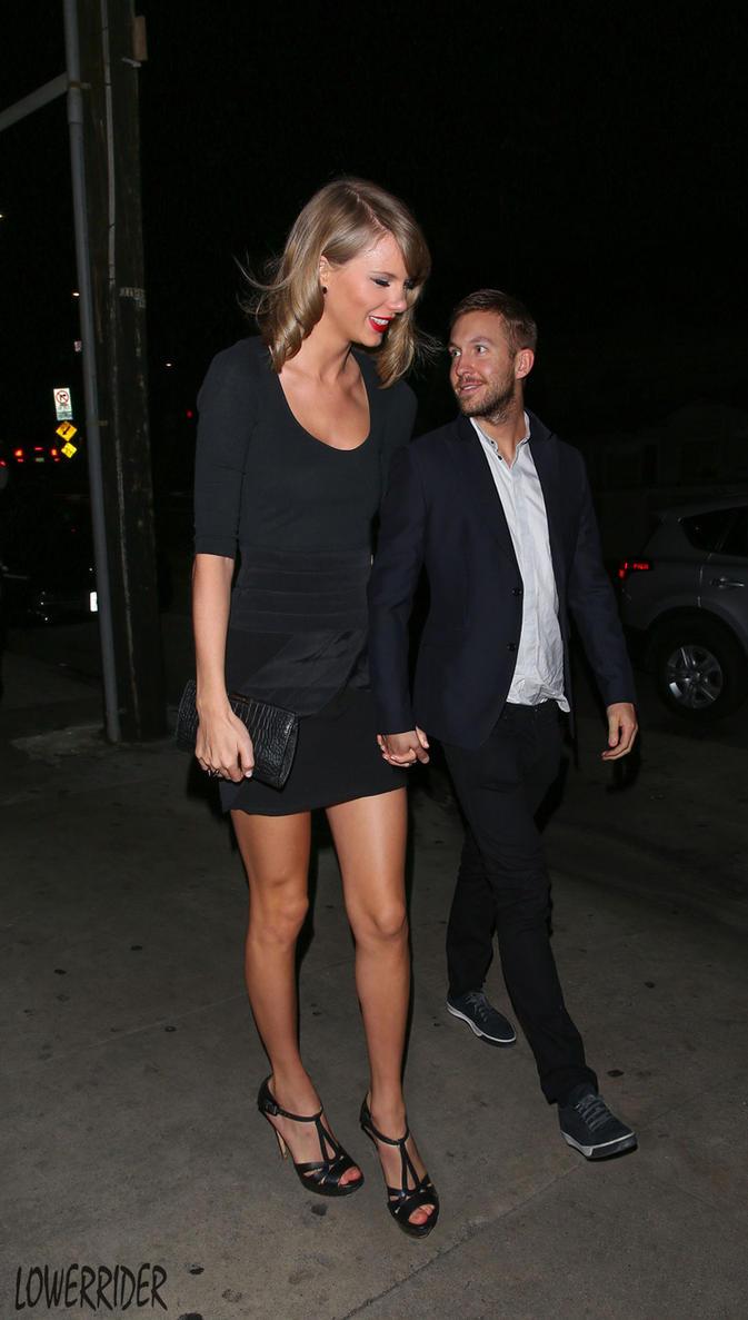 taylor swift shorter boyfriend walk by lowerrider on