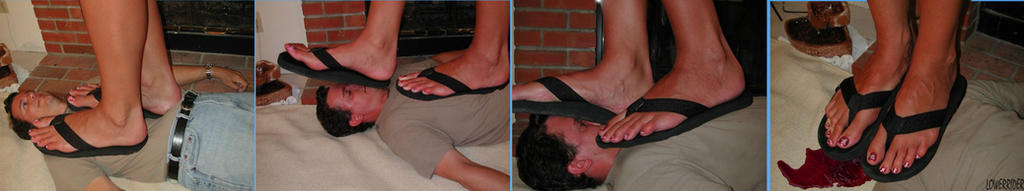 Mikayla Miles flip flop trample by lowerrider