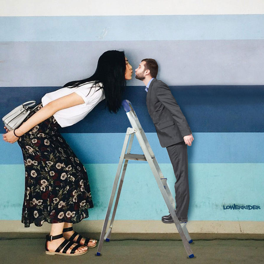 Tall model kiss by lowerrider