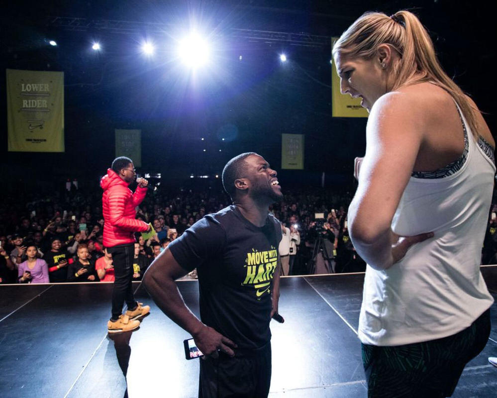 elena delle donne and kevin hart by lowerrider on deviantart