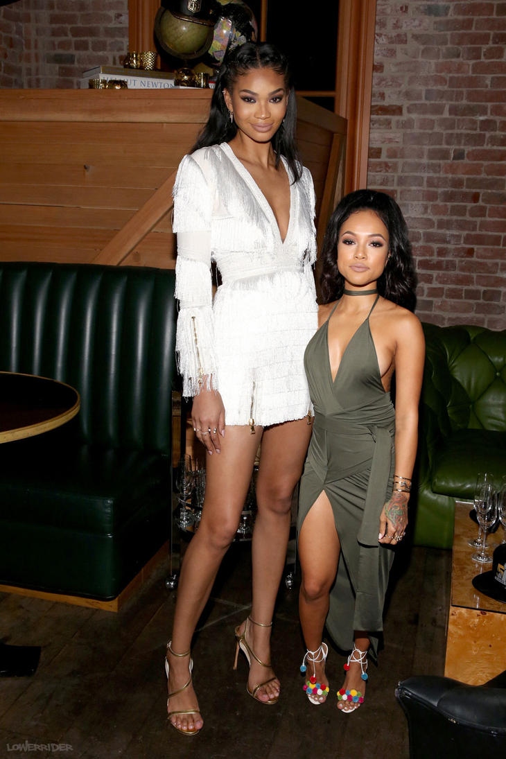 Chanel Iman and Karrueche Tran by lowerrider